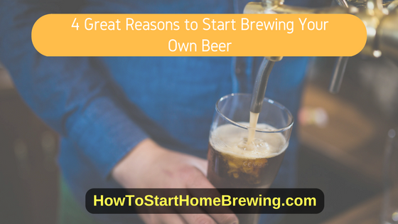 reasons to brew your own beer