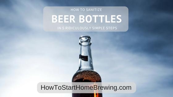 sanitize beer bottles